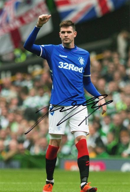 Kyle Lafferty, Rangers, signed 12x8 inch photo.